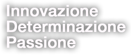 Innovazione, Determinazione, Passione.